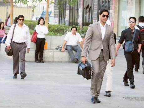 Office workers in Dubai