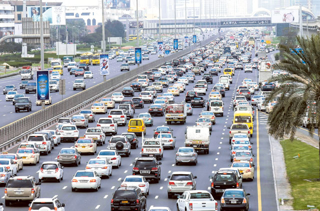 Traffic on Shaikh Zayed
