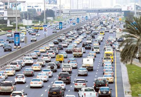 Back-to-work traffic woes in Dubai