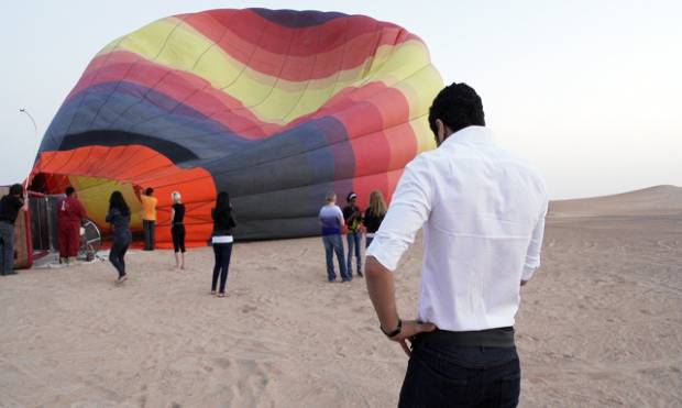 Hot air balloon adventure over Dubai