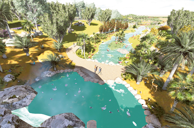 An artist's impression of Desert Safari, which will replace Dubai Zoo. The project is expected to be