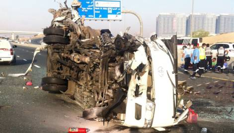 Pictures: 13 dead in Emirates Road crash