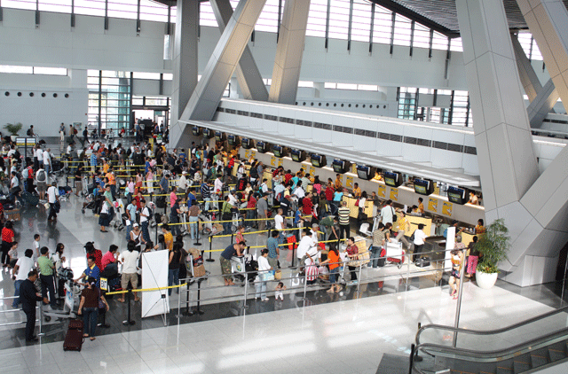 Ninoy Aquino International Airport (NAIA) Terminal 3, used by Philippine flag-carriers