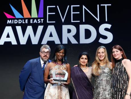At the Middle East Event Awards 2014 in Dubai