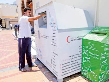 Donation boxes for clothing outside UAE mosques | GulfNews.com