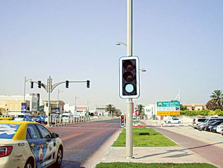 dubai traffic lights going green gulfnews com