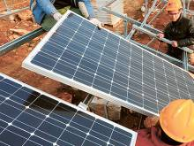 Demand slows down fall in solar panel prices
