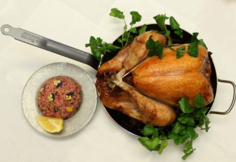 Turkey with pine nut and barberry rice stuffing