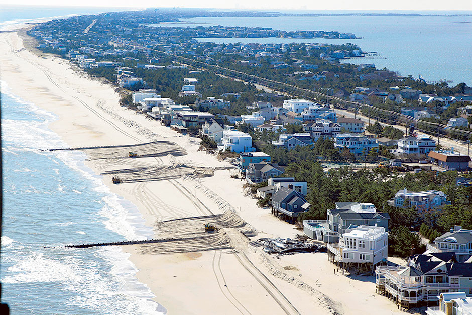the concerns over the erosion of long islands barrier beaches