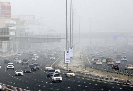 Dust and haze hit many areas of UAE