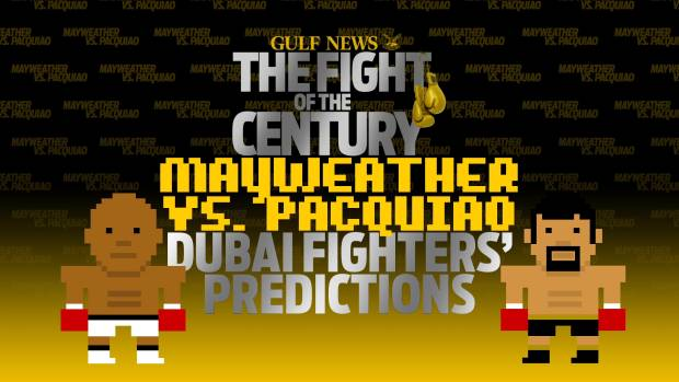 Pacquiao or Mayweather? Dubai fighters predict