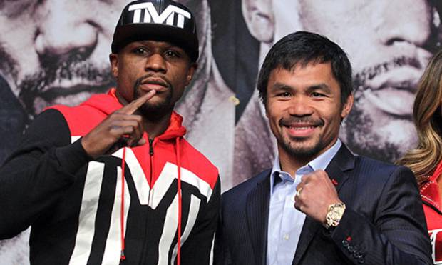 Mayweather and Pacquiao share the centre stage