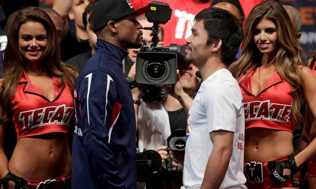Video: Mayweather vs Pacquiao weigh-in