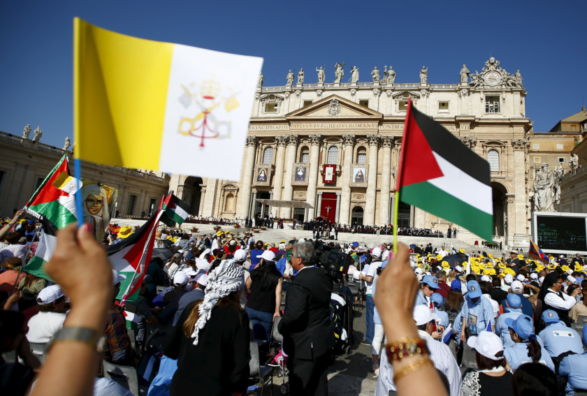 the vaticans view on the israeli palestinain