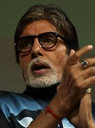 Big B's fist pump during Mumbai win