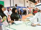 Aspiring Emirati job seekers at a recent careers fair in Dubai. Considering the very low contribution — because of the generally low basic salary in proportion to other allowances — one would wonder how pension funds can survive.