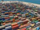 A bird's eye view of the Khalifa Port Container Terminal.