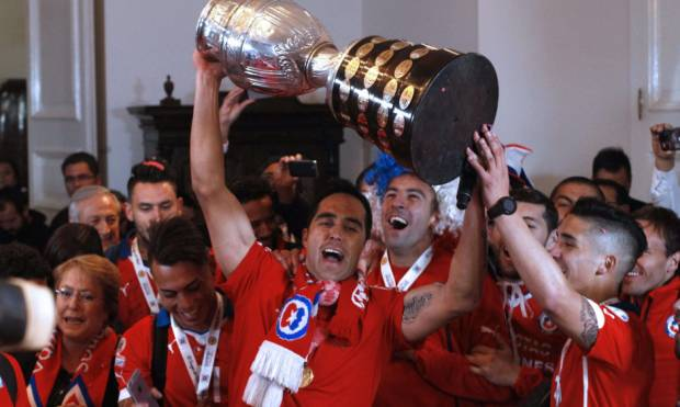 Pictures: Chile lift Copa America for first time