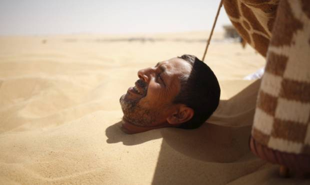 Pictures: The hot sand baths of Siwa