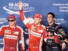 Vettel denies Hamilton a record eighth pole