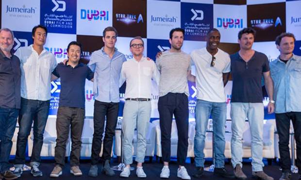 Star Trek Beyond crew lands in Dubai