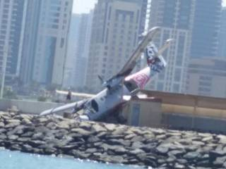 Skydiving plane crashes in Dubai