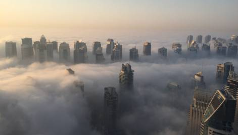 Pictures: Dense fog sweeps the Emirates