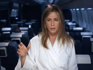 Jennifer Aniston looks for a shower at 40,000ft