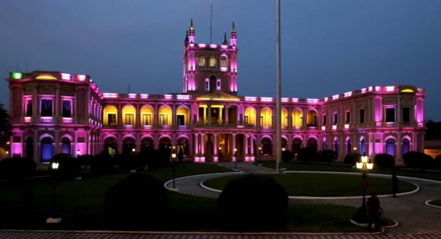 Lopez Palace goes pink for cancer awareness