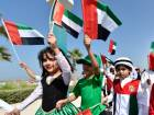 File photo: Students of Dubai Police Nursery school carrying UAE flags at Jumeirah kite beach as part of UAE Flag Day celebrations.