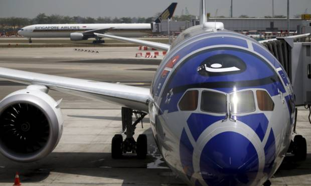 Star Wars-themed aircraft on show