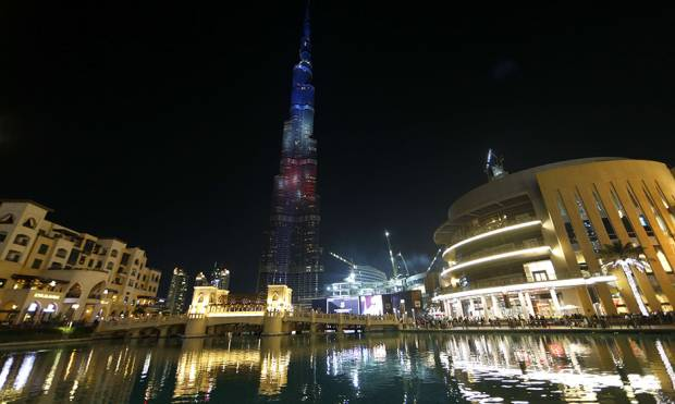 UAE landmarks in French colours