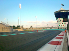 Yas Marina Circuit given its finishing touches
