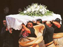 Traditional farewell for Lomu draws thousands
