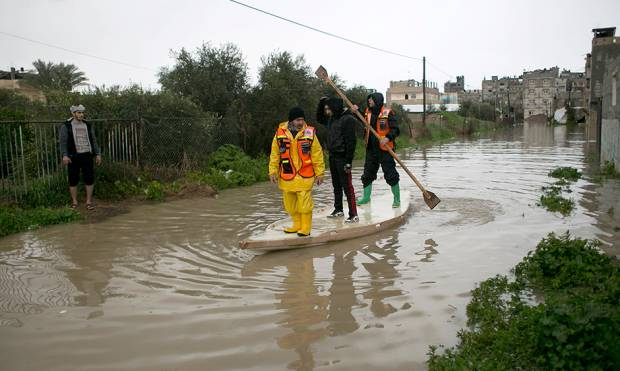 Rain and strom cause havoc in Gaza