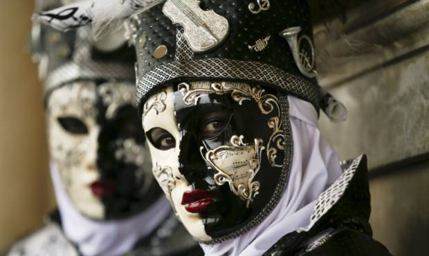 The many masked revellers of the Venice carnival