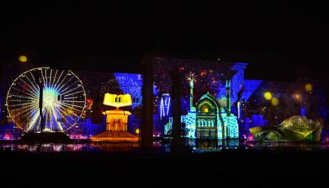 Magical start to Sharjah Light Festival