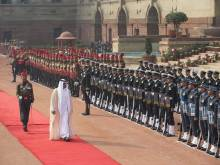 Mohammad Bin Zayed inspects Guard of Honour