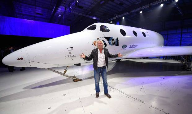 Pictures: Virgin's new space tourism rocket