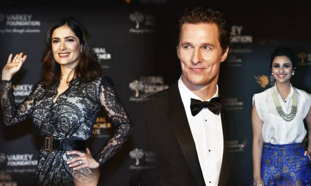 Celebrities dazzle fans on the red carpet