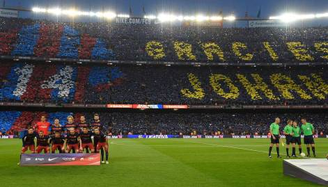 In pictures: El Clasico tribute to Johan Cruyff