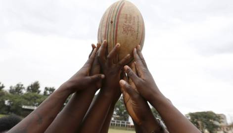Kenya Women's Rugby team light training session