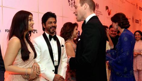 Bollywood gala, slum visit for Royals