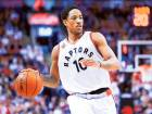 DeMar DeRozan (10) of the Toronto Raptors in Game Five ofthe Eastern Conference quarter-finals against Indiana Pacers.