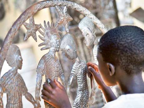 Tourist trinkets crafted by Haiti's child artisans