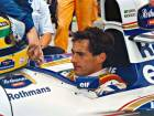 Ayrton Senna in his Williams on the grid of the San Marino Grand Prix in 1994