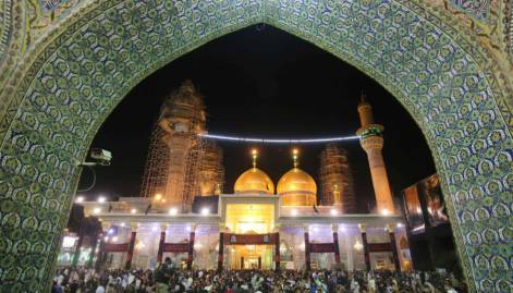 Shiite pilgrims converge on Baghdad shrine