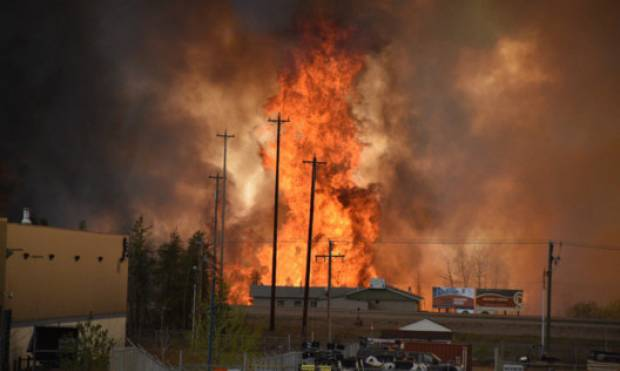 Monster wildfire sweeps Canadian city