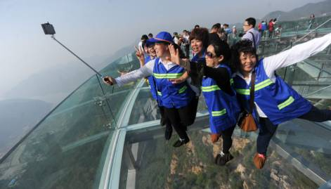 Beijing's glass cliff hangout opens