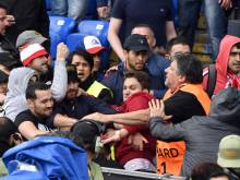 Violence breaks out at Europa League final